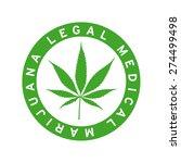 cannabis leaf sticker button... | Shutterstock .eps vector #274499498