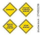 traffic road warning sign... | Shutterstock .eps vector #274502258