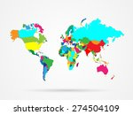 illustration of a colorful... | Shutterstock .eps vector #274504109