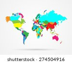 illustration of a colorful... | Shutterstock . vector #274504916