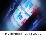 Slot Machine Spin Concept Phot...