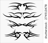 patterns of tribal tattoo set.... | Shutterstock .eps vector #274513478