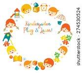 kindergarten  preschool  kids... | Shutterstock .eps vector #274530524