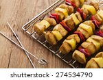 Grilled Chicken Skewers With...