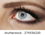 Eye Of Young Woman With Tear...