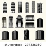 icons of urban black and white... | Shutterstock .eps vector #274536350