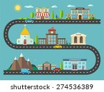 urban landscape in flat design. ...   Shutterstock .eps vector #274536389