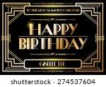 gatsby birthday greetings... | Shutterstock .eps vector #274537604