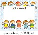 kindergarten  kids back to... | Shutterstock .eps vector #274540760