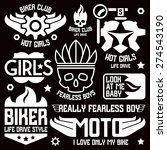 vinyl stickers and badges on... | Shutterstock .eps vector #274543190