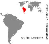 south america map | Shutterstock .eps vector #274543310