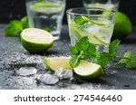 mojito cocktail in a bur on a... | Shutterstock . vector #274546460