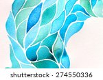abstract watercolor floral... | Shutterstock . vector #274550336