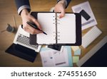 businessman working at office... | Shutterstock . vector #274551650