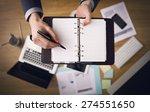 businessman working at office... | Shutterstock . vector #274551650
