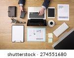businessman working on his... | Shutterstock . vector #274551680
