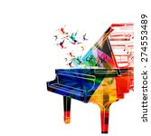 colorful piano design with... | Shutterstock .eps vector #274553489