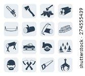 vector lumberjack and sawmill...   Shutterstock .eps vector #274555439