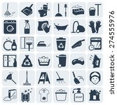 cleaning and washing vector...   Shutterstock .eps vector #274555976