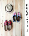 set of clothes and various...   Shutterstock . vector #274557278