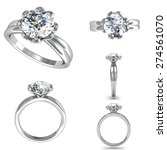 set of wedding ring with... | Shutterstock . vector #274561070