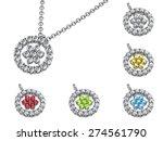 pendant on white background ... | Shutterstock . vector #274561790
