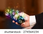 smartphone with finance and... | Shutterstock . vector #274564154