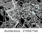 rome black and white map | Shutterstock .eps vector #274567760