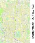 madrid map | Shutterstock .eps vector #274567763