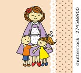 mother with children. vector...   Shutterstock .eps vector #274568900