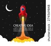 space rocket launch  creative... | Shutterstock .eps vector #274569848