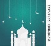 eid mubarak greeting card may ... | Shutterstock .eps vector #274571618