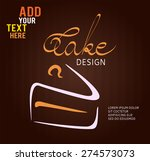 cake design symbol on brown... | Shutterstock .eps vector #274573073