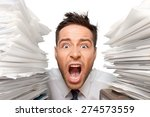 emotional stress  exhaustion ... | Shutterstock . vector #274573559
