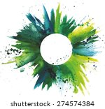 abstract watercolor green and... | Shutterstock .eps vector #274574384