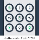 smart house round modern icons...