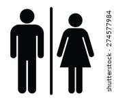 a man and a lady toilet sign | Shutterstock .eps vector #274577984