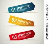 modern template design set  ... | Shutterstock .eps vector #274582070