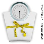 Small photo of Dieting, Weight Scale, Overweight.