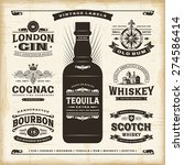 vintage alcohol labels... | Shutterstock . vector #274586414