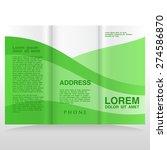 vector modern tri fold brochure ... | Shutterstock .eps vector #274586870