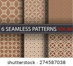 seamless vector pattern.... | Shutterstock .eps vector #274587038