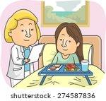 illustration of a girl patient... | Shutterstock .eps vector #274587836