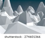 low poly mountains landscape | Shutterstock . vector #274601366