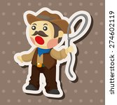 cowboy   cartoon sticker icon | Shutterstock . vector #274602119