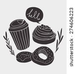 dessert vector design. coffee... | Shutterstock .eps vector #274606223