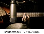 male musician playing acoustic... | Shutterstock . vector #274606808