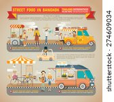 street food in bangkok... | Shutterstock .eps vector #274609034