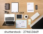 businessman's tidy desktop and... | Shutterstock . vector #274613669