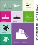 landmarks of cape town. set of... | Shutterstock .eps vector #274614620
